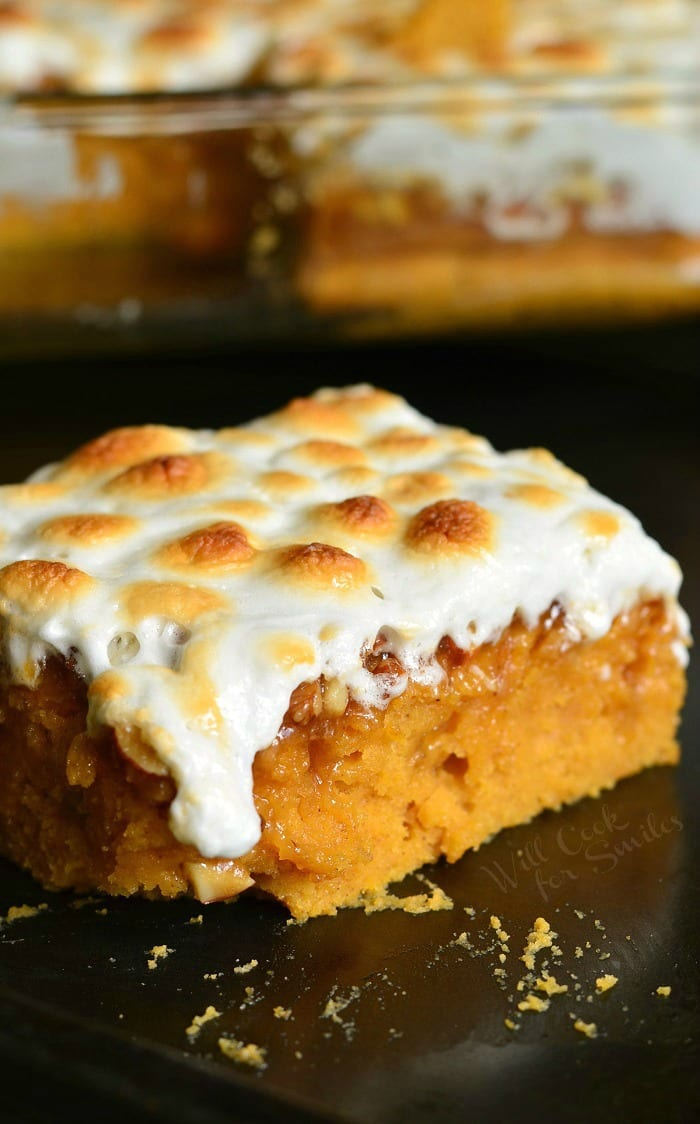 Sweet Potato Casserole Cake | from willcookforsmiles.com