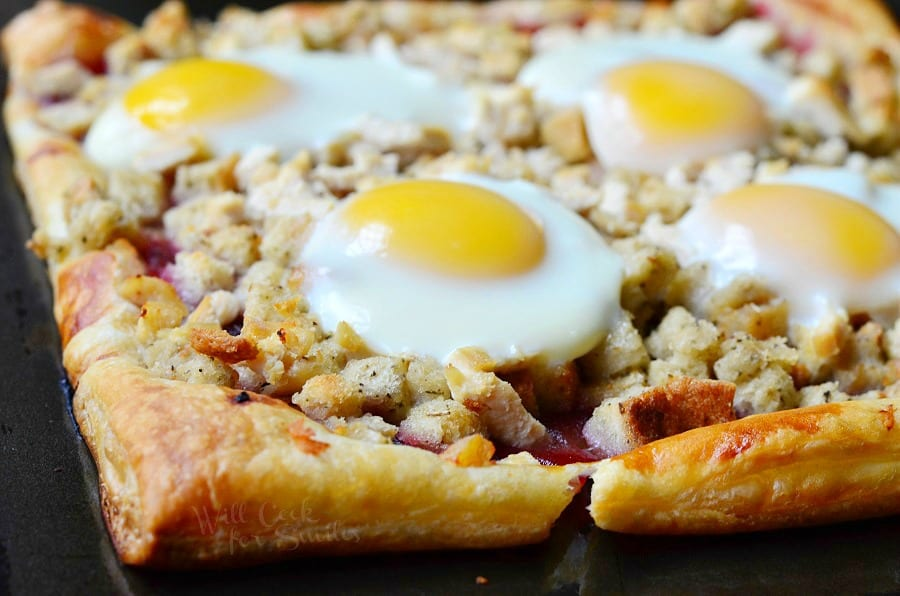 Thanksgiving Leftovers Tart (Turkey, Stuffing, Cranberry and Egg Tart) 2 from willcookforsmiles.com