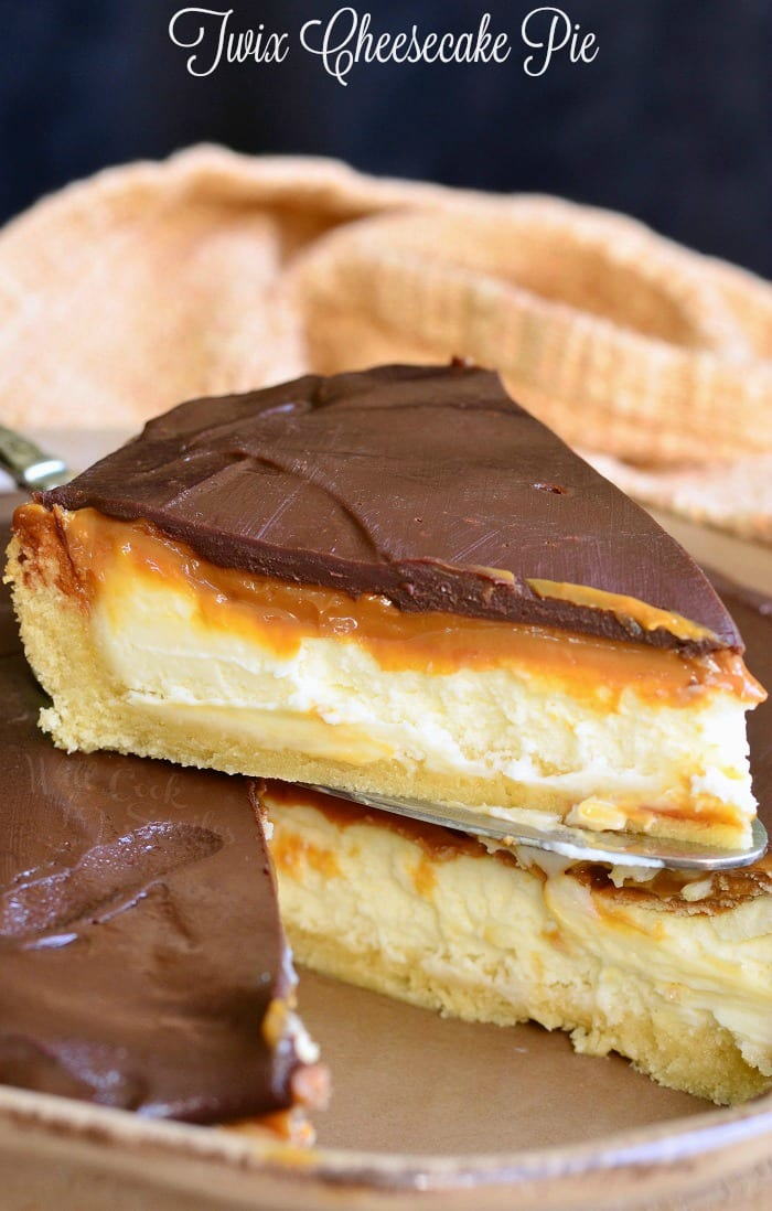 Twix Cheesecake Pie | from willcookforsmiles.com #dessert