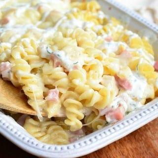 Creamy Chicken Cordon Bleu Pasta Casserole