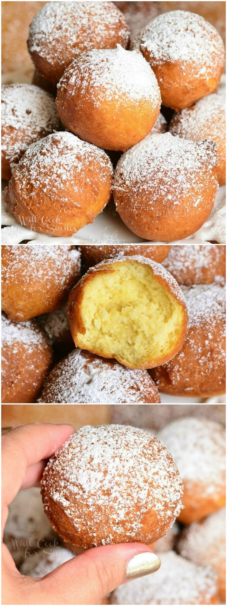 Easy Ricotta Doughnuts 6 from willcookforsmiles.com #breakfast #donut #doughnut