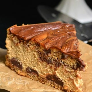 Gingerbread Nutella Swirl Cheesecake