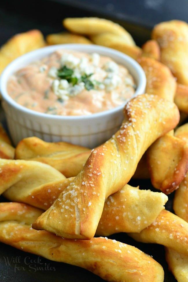 Homemade-Soft-Pretzel-Twists-with-Creamy-Buffalo-Sauce-2-from-willcookforsmiles.com_