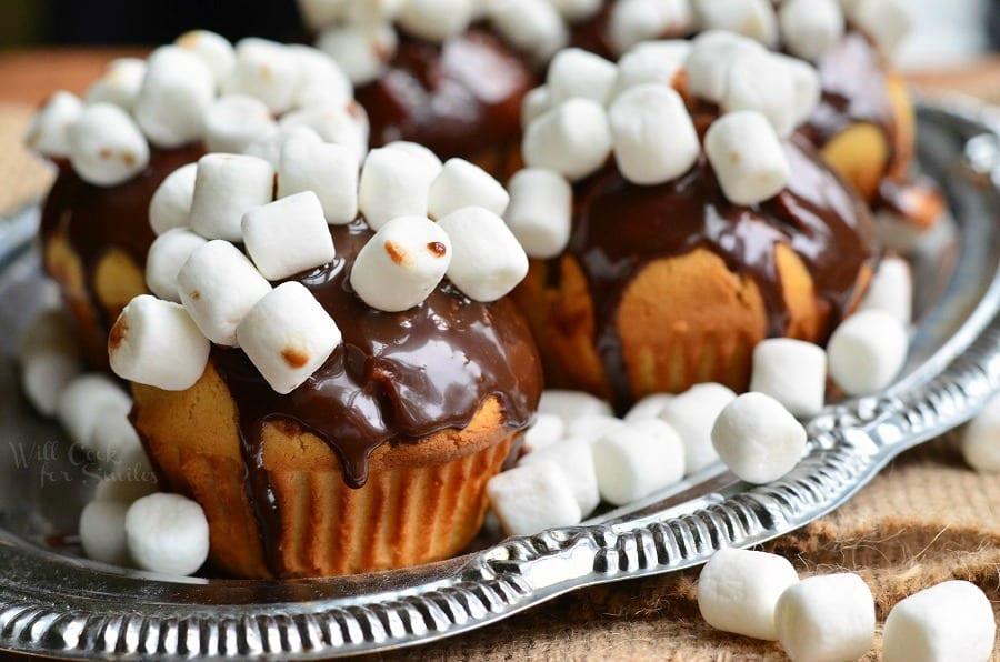 Hot Chocolate Doughnut Muffins 5 from willcookforsmiles.com