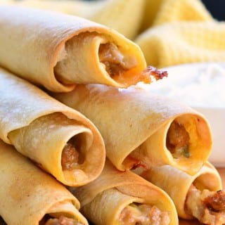 Baked Jalapeño Sausage and Cheese Taquitos