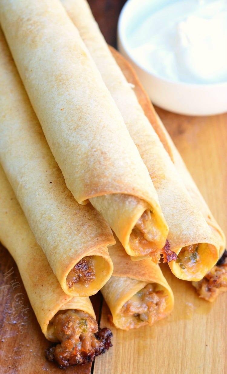 Jalapeño Sausage and Cheese Taquitos 2 from willcookforsmiles.com