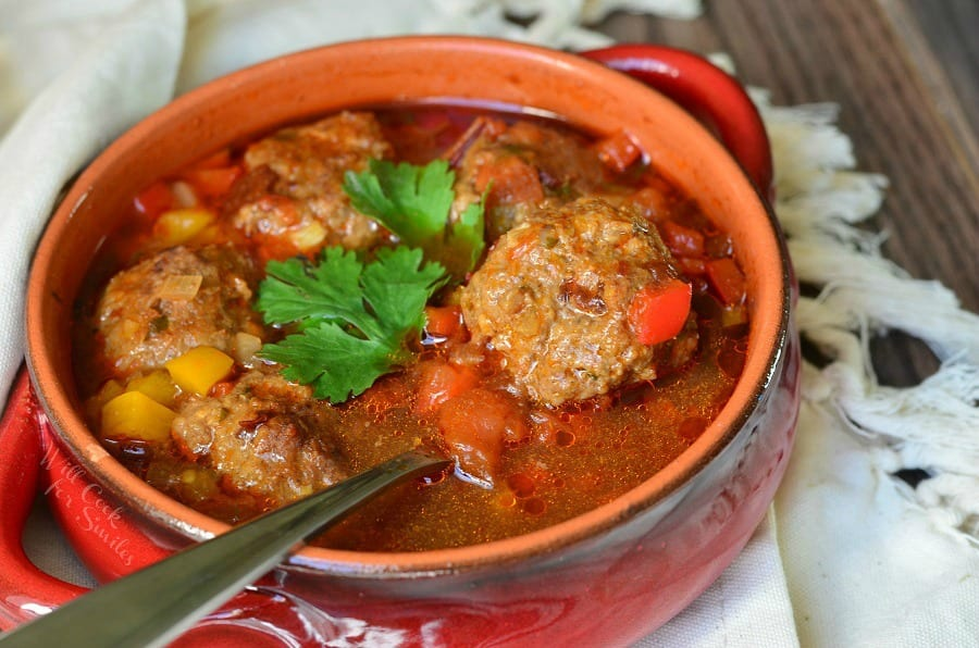 Mexican Meatball Soup - Will Cook For Smiles