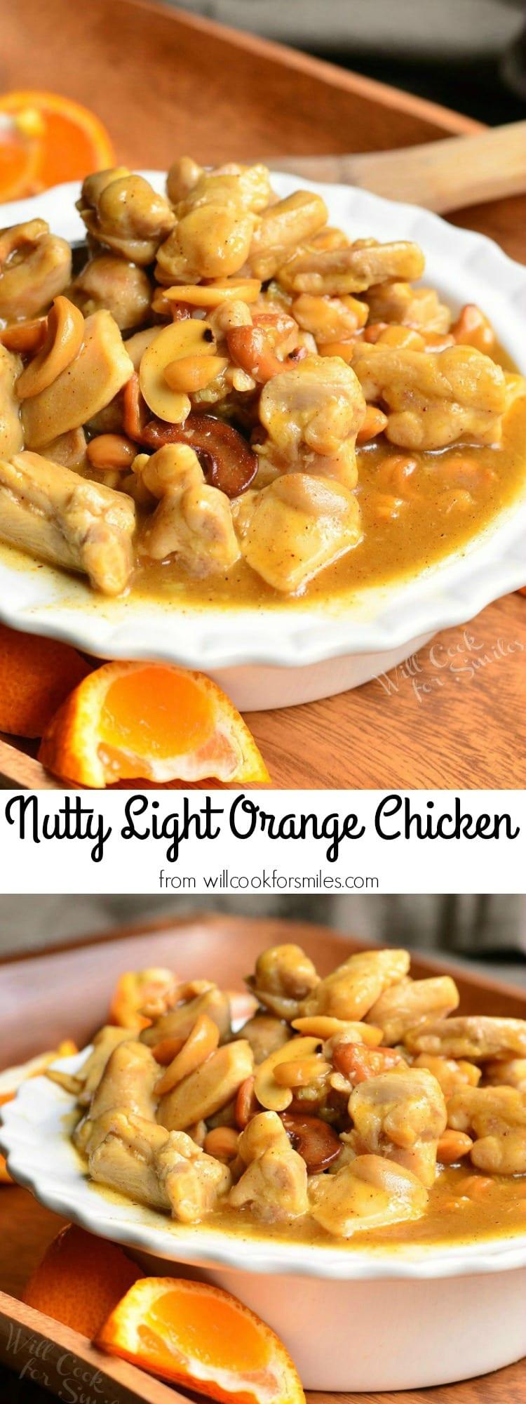 Nutty Light Orange Chicken 5 from willcookforsmiles.com