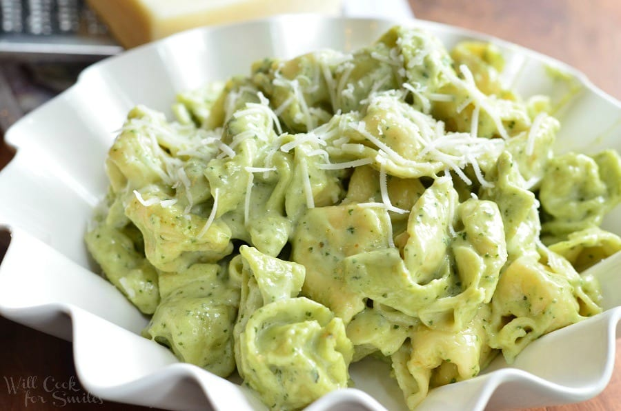 Pesto Alfredo Tortellini 5 from willcookforsmiles.com