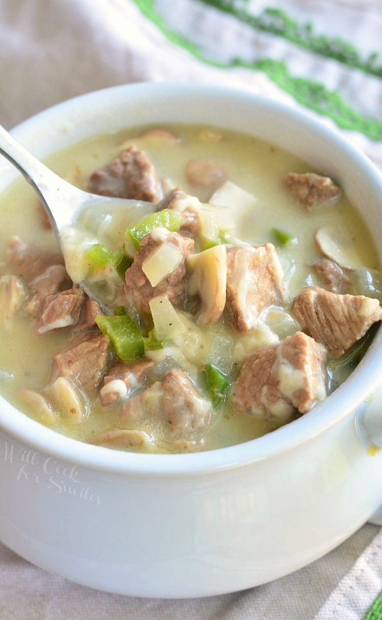 Steak and Cheese Soup | from willcookforsmiles.com
