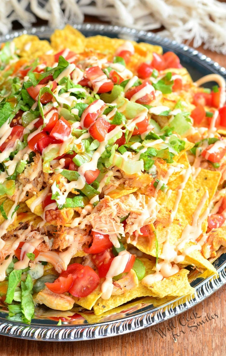 Buffalo Chicken Nachos | from willcookforsmiles.com