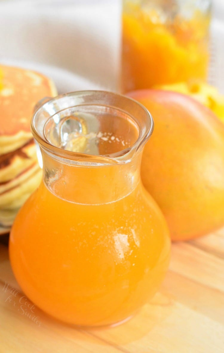 Homemade Mango Syrup. Delightful addition to any breakfast or dessert. from willcookforsmiles.com