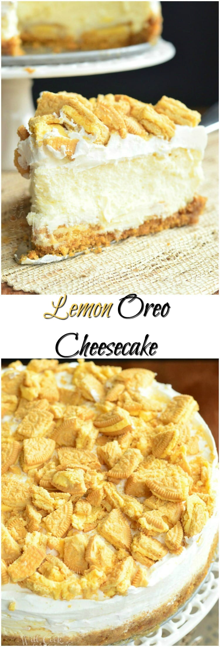 Lemon Oreo Cheesecake collage
