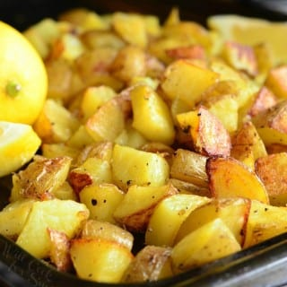 Truffle Lemon Pepper Roasted Potatoes