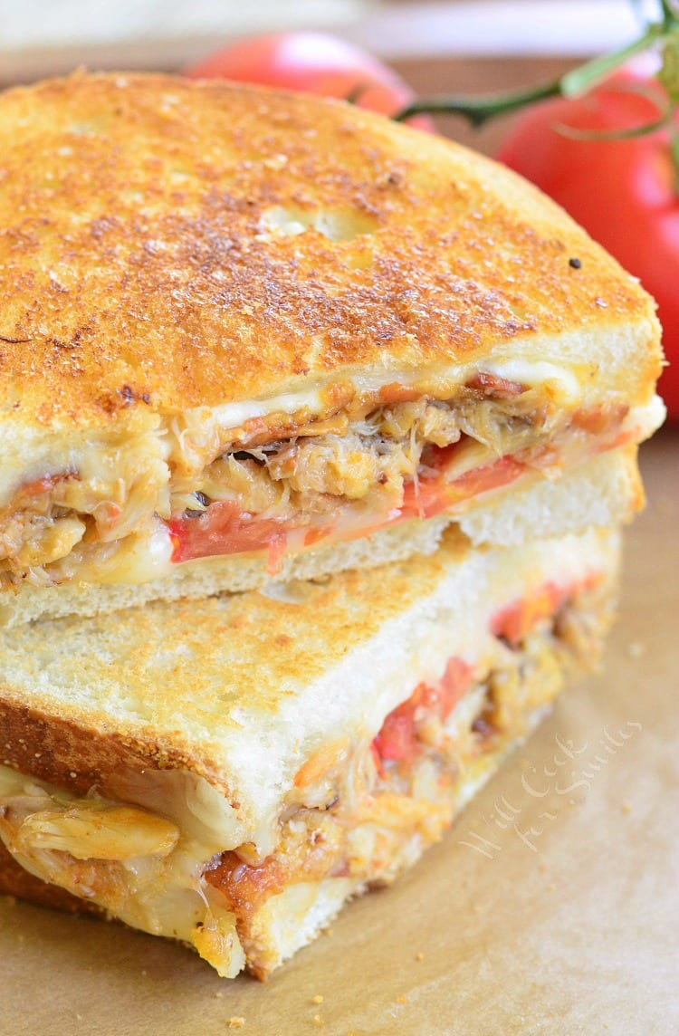 Crab Tomato and Bacon Grilled Cheese | from willcookforsmiles.com