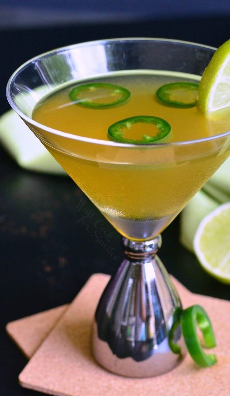 Jalapeno Margatini. PERFECT balance of sweet and spicy in a delicious, margarita inspired martini. Once you try it, you will LOVE it. 1
