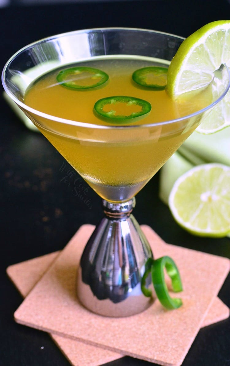 Jalapeno Margatini. PERFECT balance of sweet and spicy in a delicious, margarita inspired martini. Take a sip and you will LOVE it.
