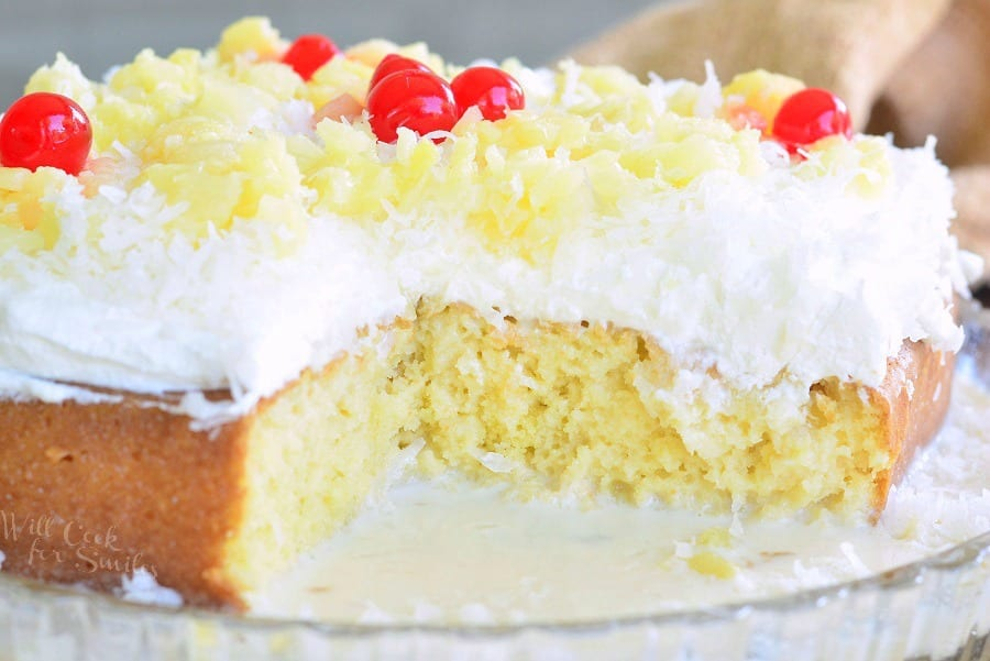 Pina Colada Tres Leches Cake 3 from willcookforsmiles.com