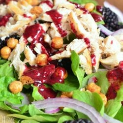 blackberry chicken spinach salad