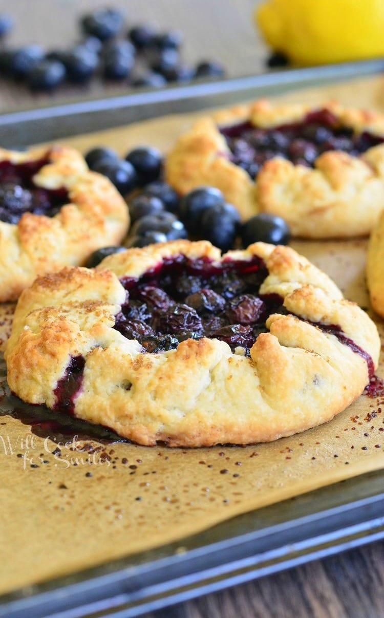 Blueberry Vanilla Lemon Galette | from willcookforsmiles.com
