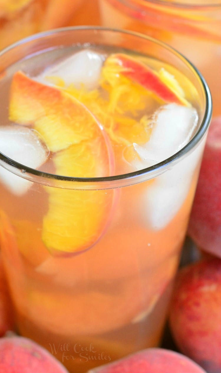 Ginger Peach and Honey Iced Green Tea | from willcookforsmiles.com