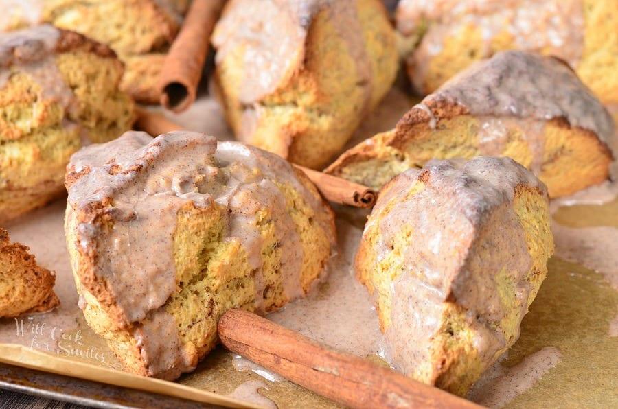 Glazed Cinnamon Swirled Scones 3