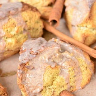 Glazed Cinnamon Swirled Scones