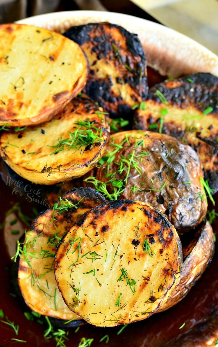 Herbed Grilled Potatoes in a bowl