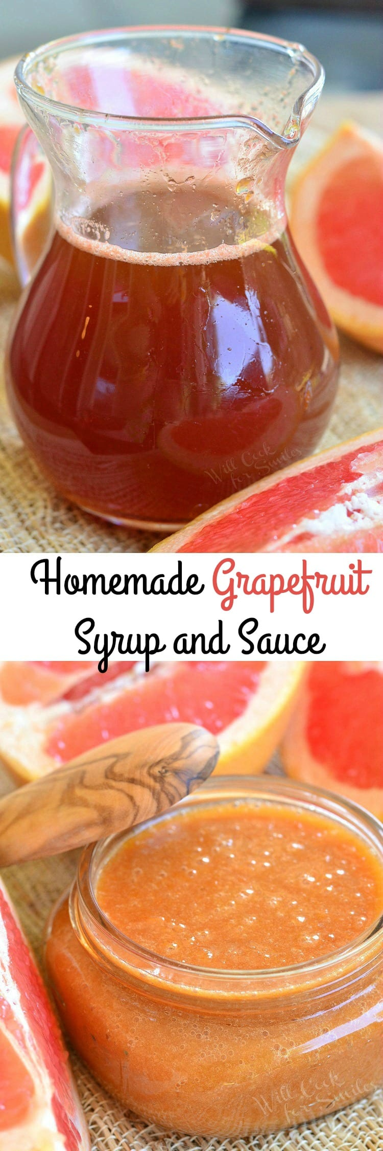 Homemade Grapefruit Syrup and Sauce. SWEET and TANGY sauce and syrup that would be PERFECT for topping of breakfast dishes or mixing into baked goods.