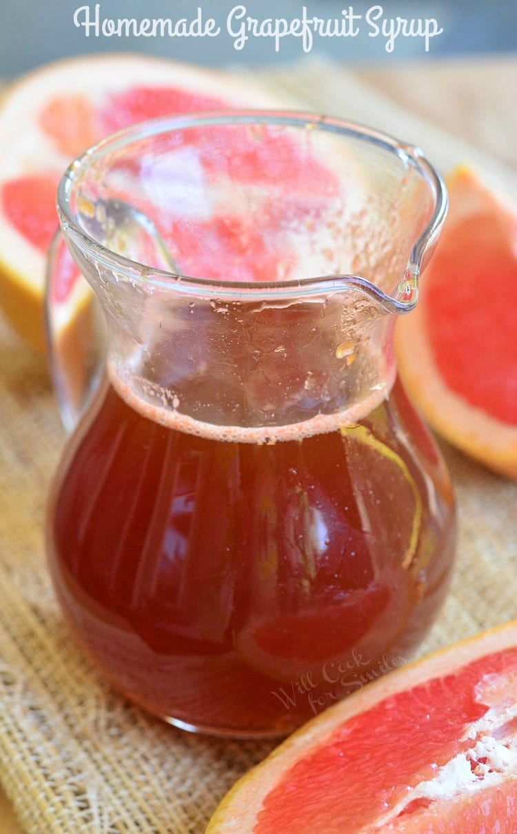 Homemade Grapefruit Syrup. SWEET and TANGY sauce and syrup that would be PERFECT for topping of breakfast dishes or mixing into baked goods.