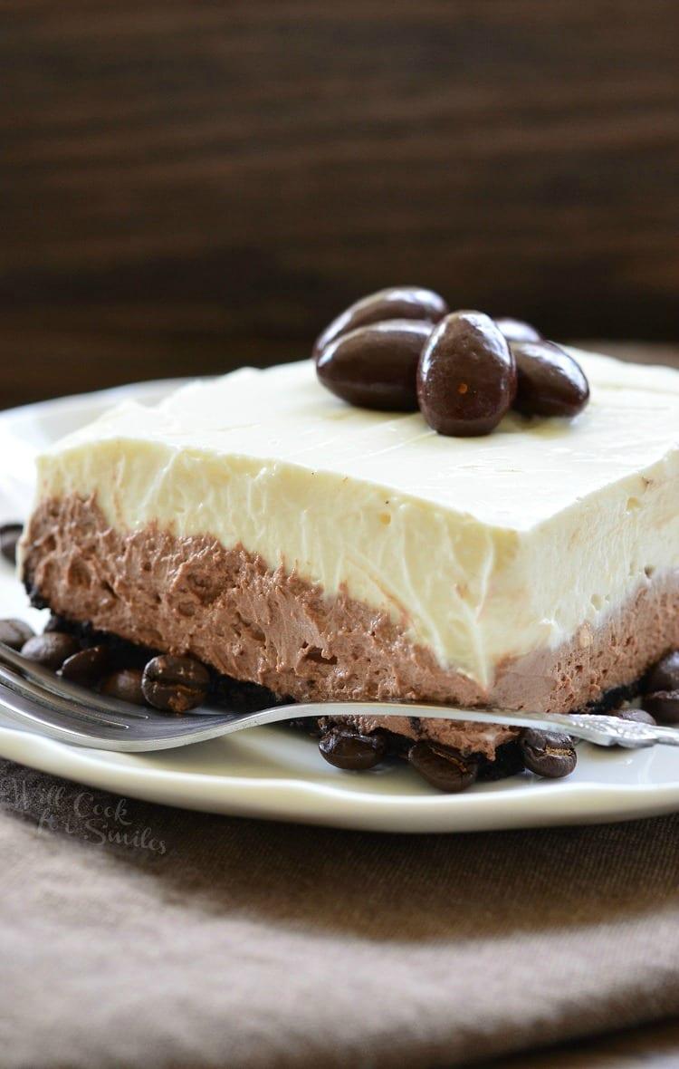 No Bake Layered Chocolate Cheesecake Pie