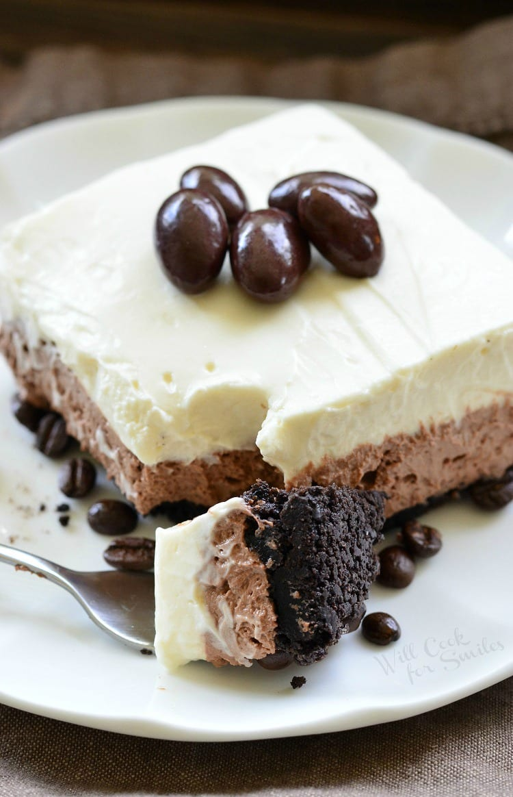 Layered Chocolate Espresso Cheesecake Dessert (No Bake) 6