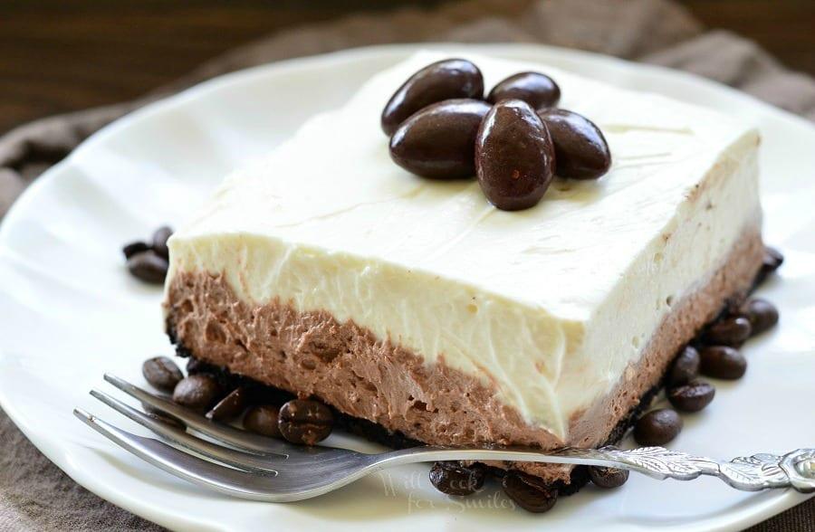 Layered Chocolate Espresso Cheesecake Dessert (No Bake)