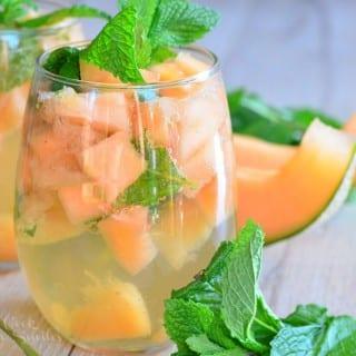 Melon Mint Wine Spritzer