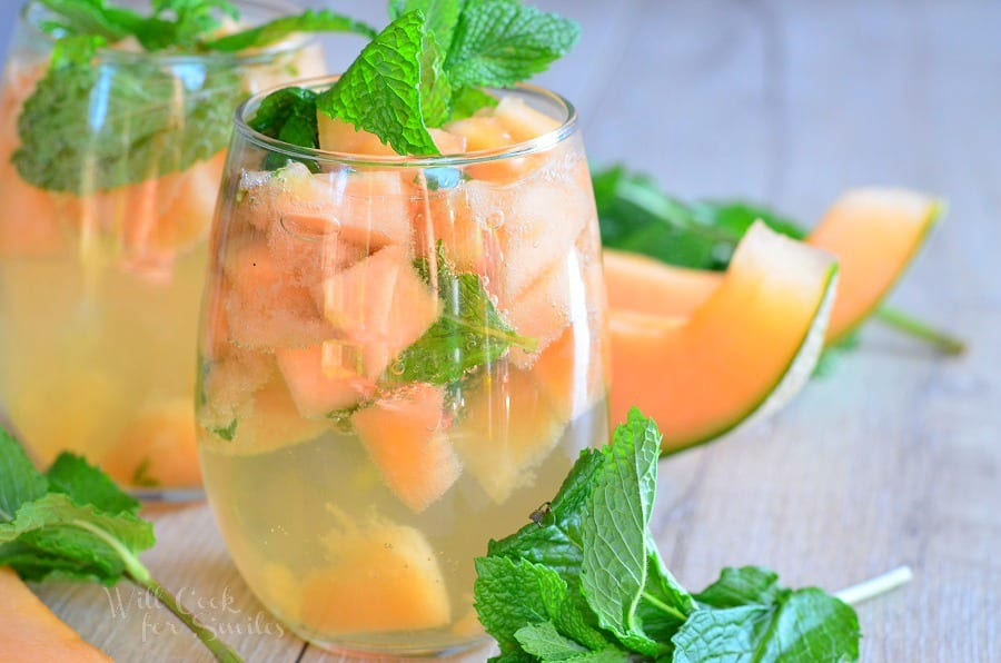 Melon Mint Wine Spritzer 4