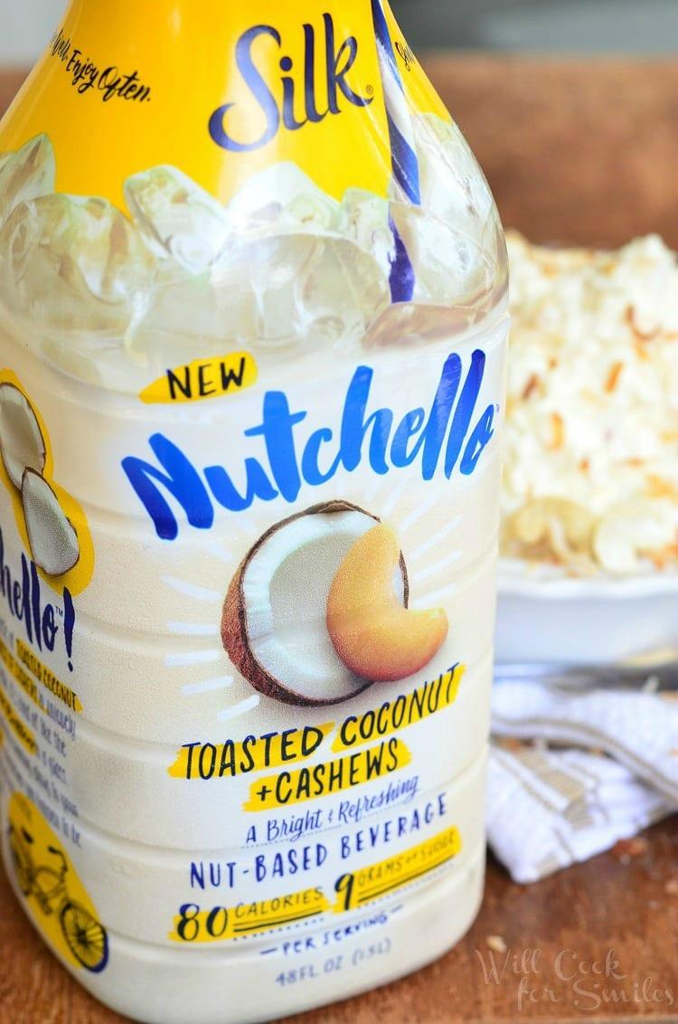 a bottle of Silk Nutchello drink