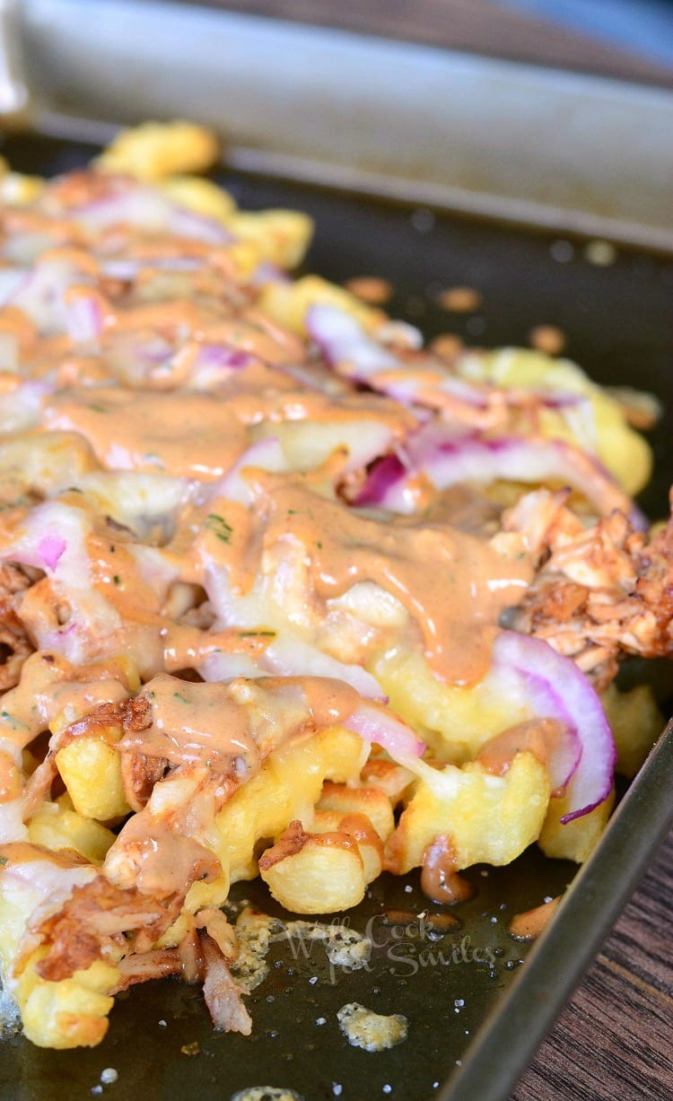 BBQ Ranch Chicken Loaded Fries 7