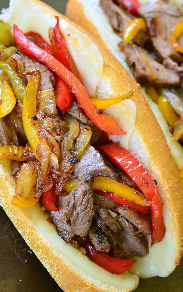 Fajita Philly Steak Sandwich | from willcookforsmiles.com