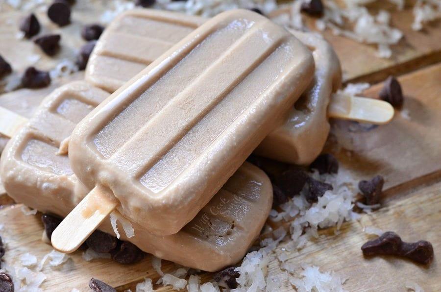 Creamy Coconut Mocha Ice Pops 2
