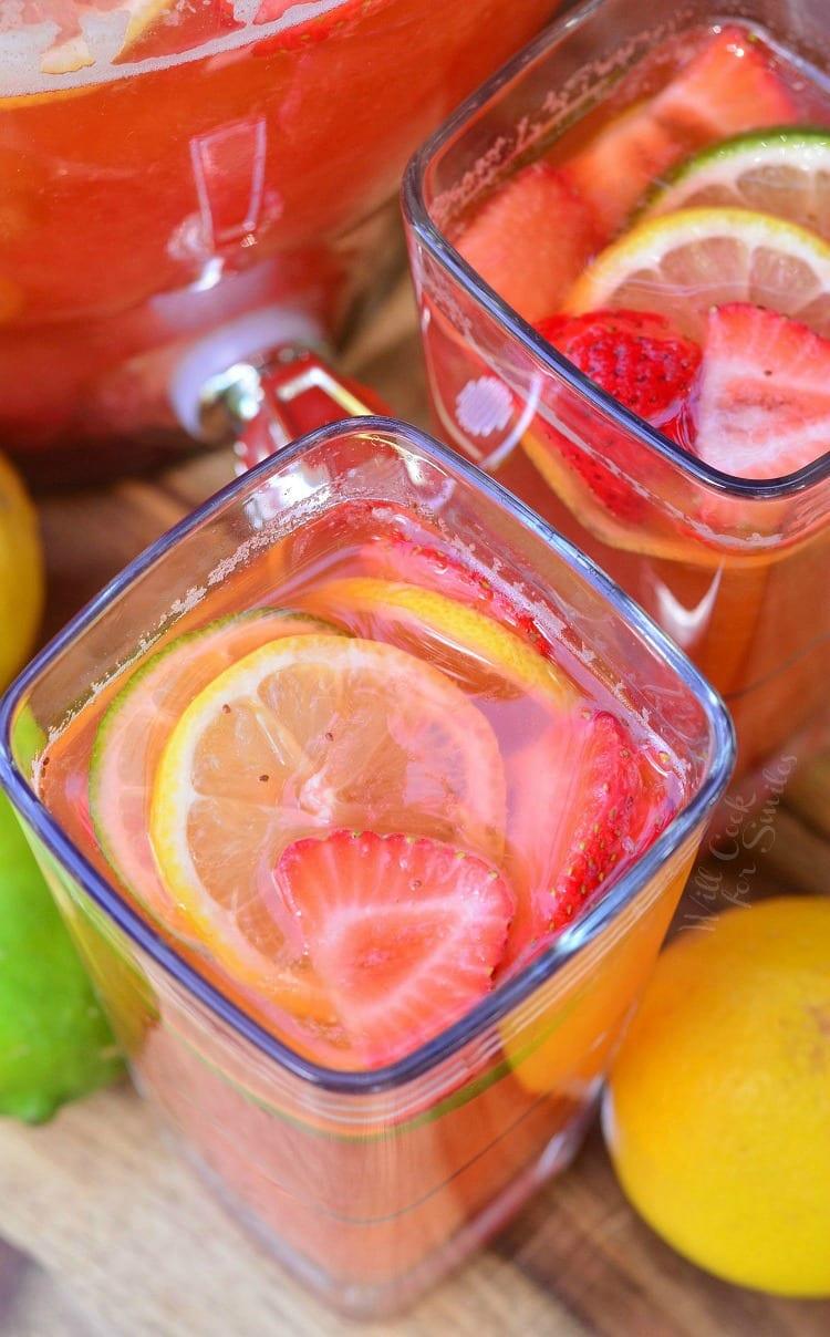 Homemade Strawberry Lemon Lime Lemonade 2
