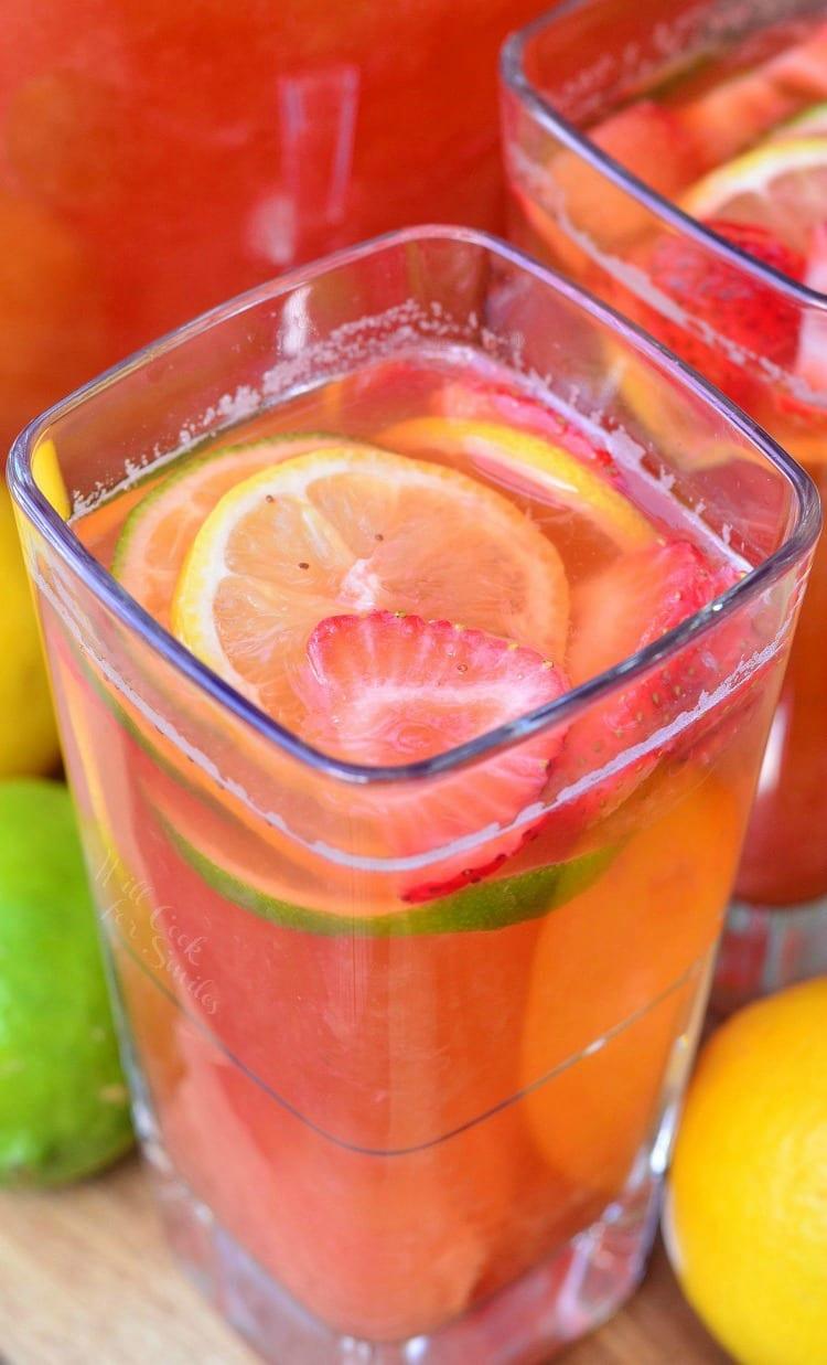 Homemade Strawberry Lemon Lime Lemonade 3