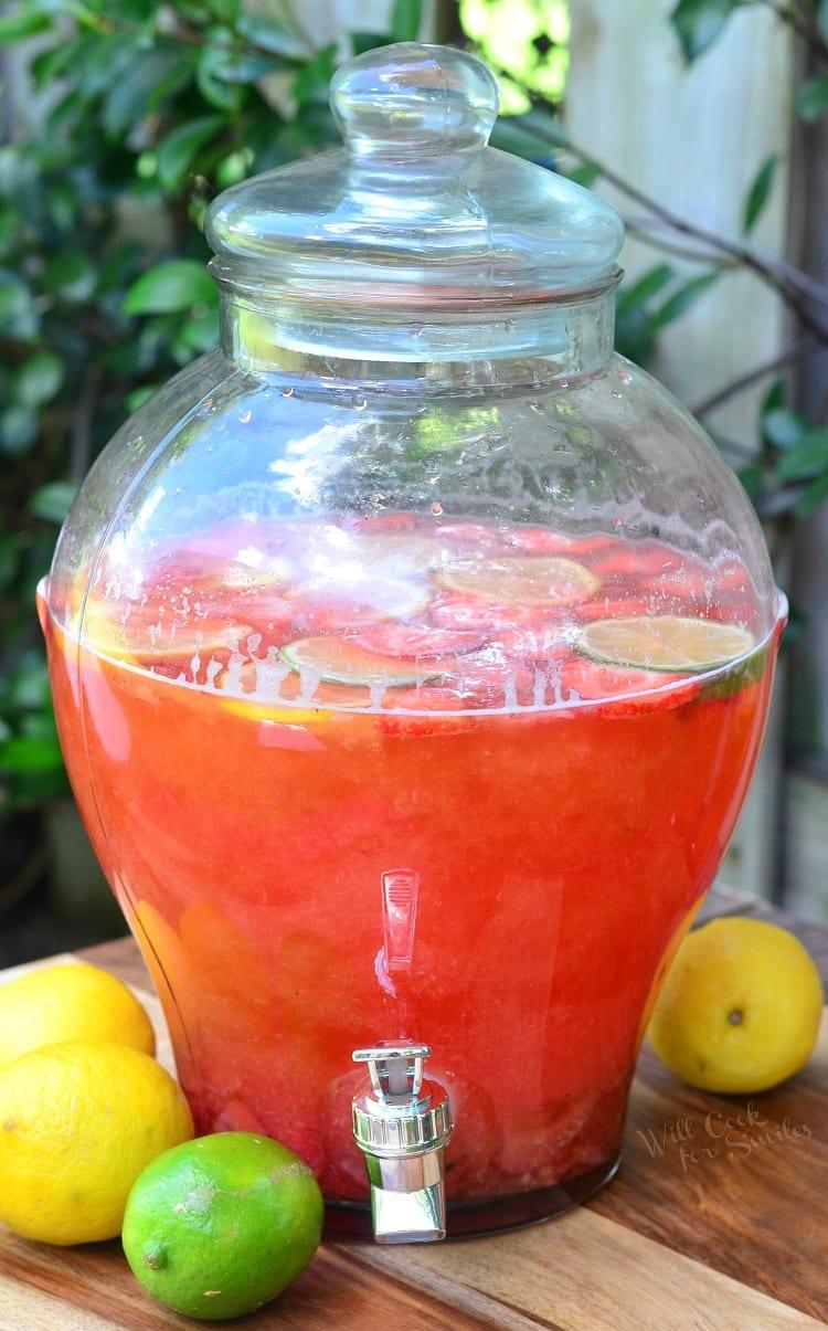 Homemade Strawberry Lemon Lime Lemonade 6