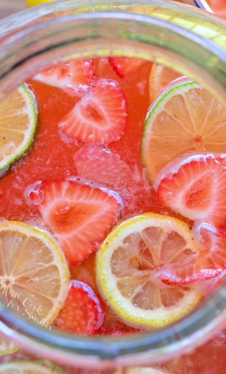 Homemade Strawberry Lemon Lime Lemonade