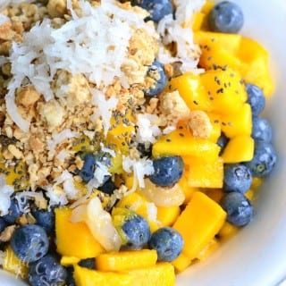 Mango Lychee and Blueberry Fruit Bowl