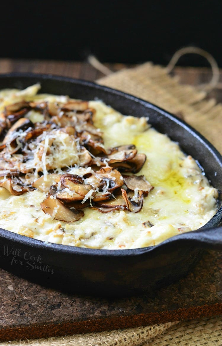 Mushroom Leek and Gruyere Cheese Dip | from willcookforsmiles.com