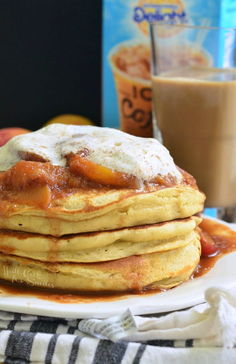 Peaches and Cream Fluffy Buttermilk Pancakes 5 from willcookforsmiles.com