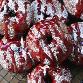 Raspberry Chocolate Doughnuts