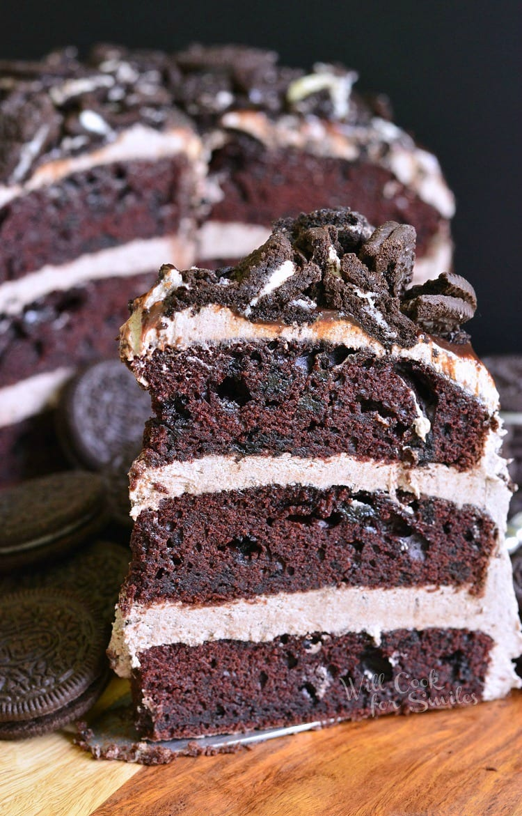 Chocolate Oreo Cake 2 from willcookforsmiles.com