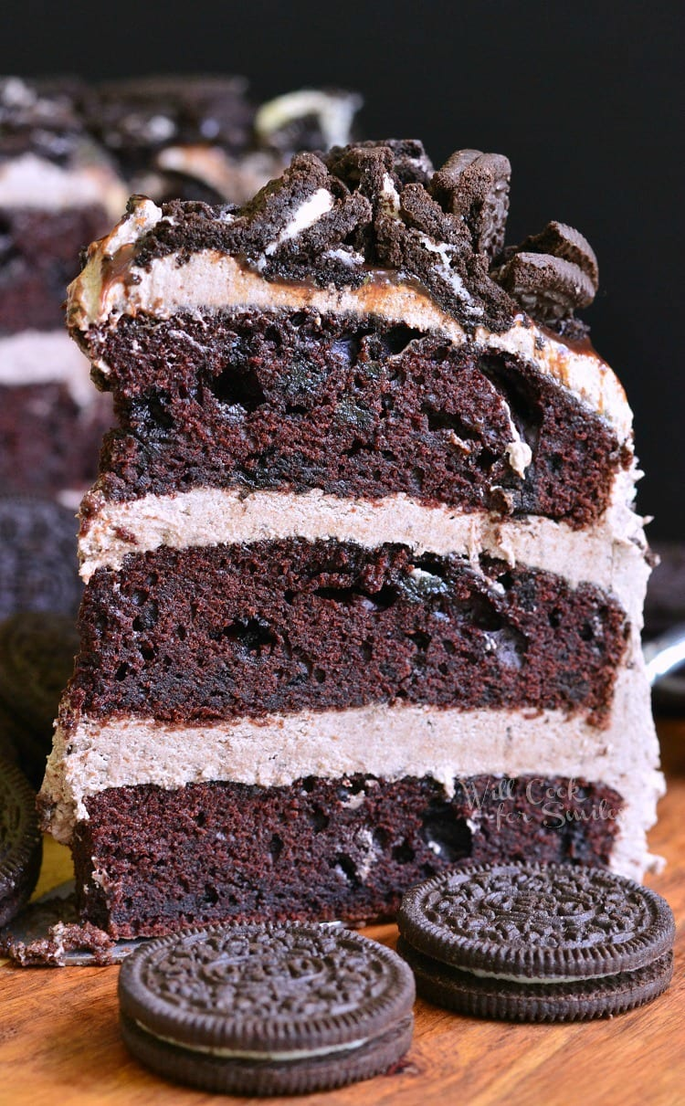Chocolate Oreo Cake 5 from willcookforsmiles.com