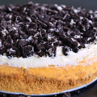 Layered Oreo Pumpkin Cheesecake 2